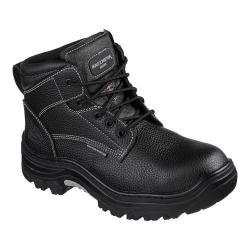 Men's Skechers Work Burgin Tarlac Steel Toe Boot Black