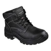 Men's Skechers Work Burgin Tarlac Steel Toe Boot Black