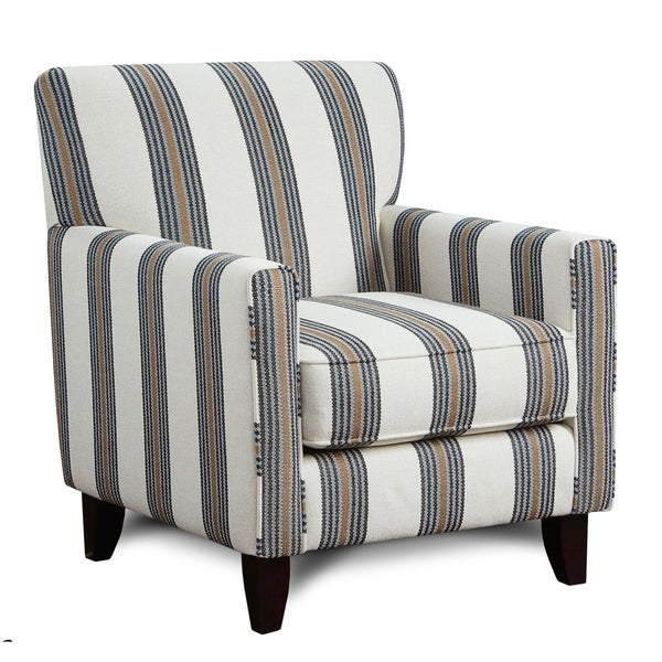 Superbe Whitaker Yardley Cobalt Blue Striped Chair