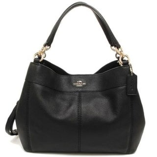 Coach 23537 Small Leather Lexy Should Bag Black