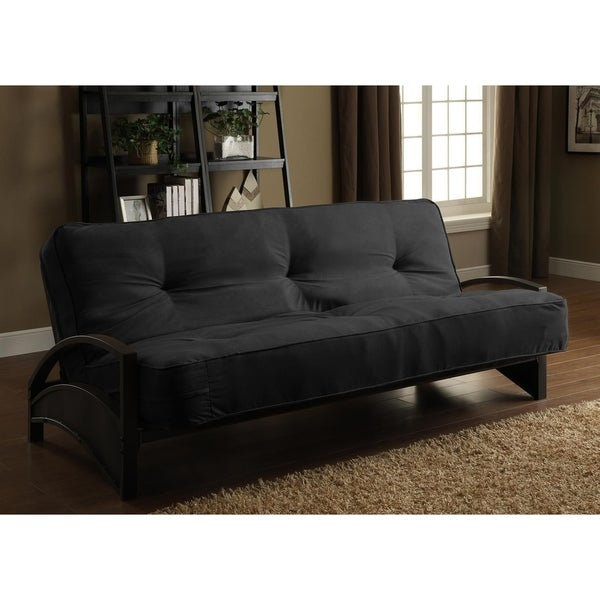 alessa futon shop dhp alessa black futon frame and 8 inch mattress set 243