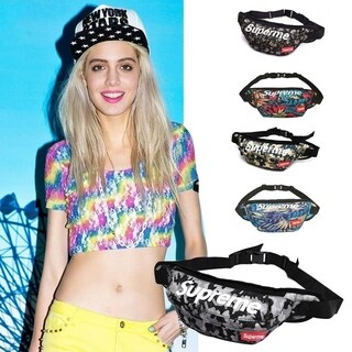 Hip Hop Style Casual Waist Bag Letter Printed Travel Waist Pack