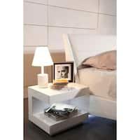 Modrest Esso White Glossy Nightstand