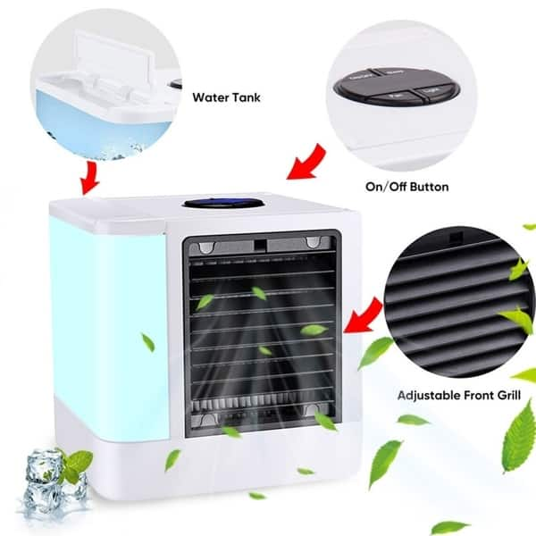Portable Mini AC Air Conditioner Personal Unit Cooling Fan Humidifier Purifier