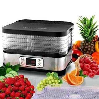 NutriChef PKFD32 Multi-Tier Digital Food Dehydrator w/Stack able Trays