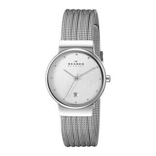 Skagen Women's 355SSS1 Chrome Dial Stainless Steel Mesh Bracelet Watch
