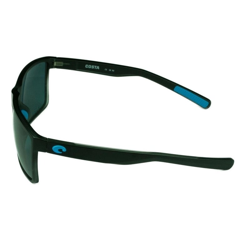 34a4e62c449 Shop Costa Del Mar Rincon Sunglasses Shiny Black Frame w  Green Mirror  Polarized Lens - Smoke - Free Shipping Today - Overstock - 22902703