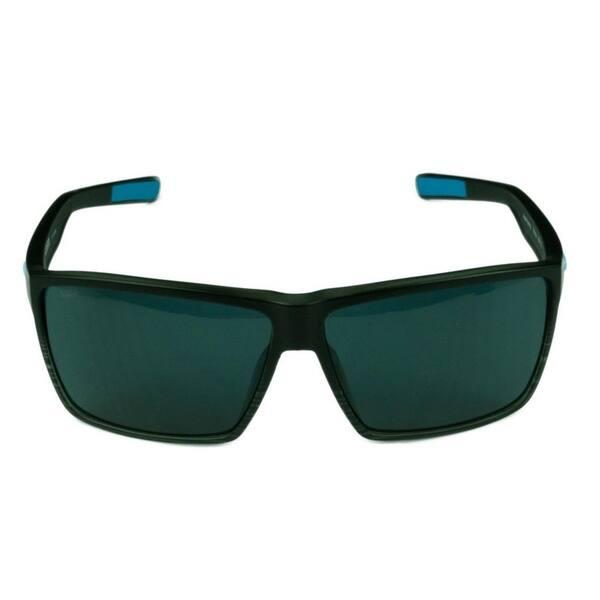 a594d345986 ... Costa Del Mar Rincon Sunglasses Shiny Black Frame w  Green Mirror  Polarized Lens - Smoke ...