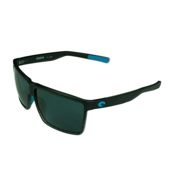 cc0ed1984ed Costa Del Mar Rincon Sunglasses Shiny Black Frame w  Green Mirror Polarized  Lens - Smoke