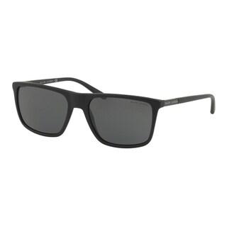 Ralph Lauren Square Rl8161 565387 Mens Beige Frame Grey Lens Sunglasses