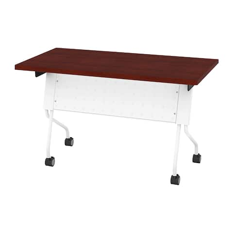 OSP Furniture Flip-Top Training Table 48 x 24 with White Frame