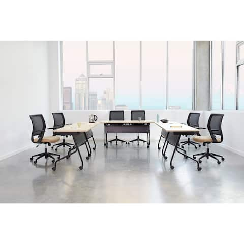 Flip-Top Training Table 60 x 24 with Black Frame