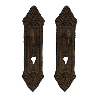 Decorative Key in Lock Design Hooks-Cast Iron Shabby Chic Rustic Wall Mount Hooks by Lavish Home (Set of 2)