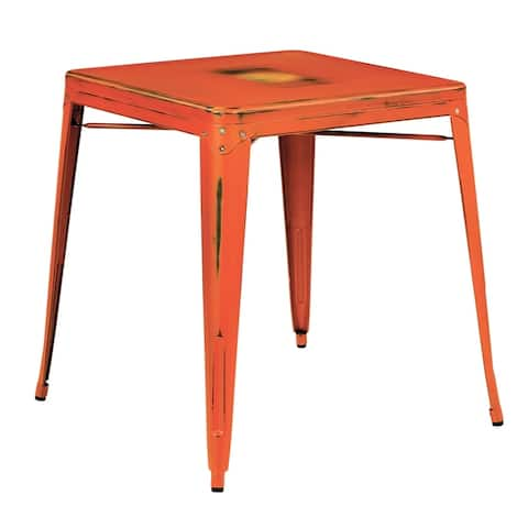 OSP Home Furnishings Bristow Antique Metal Table