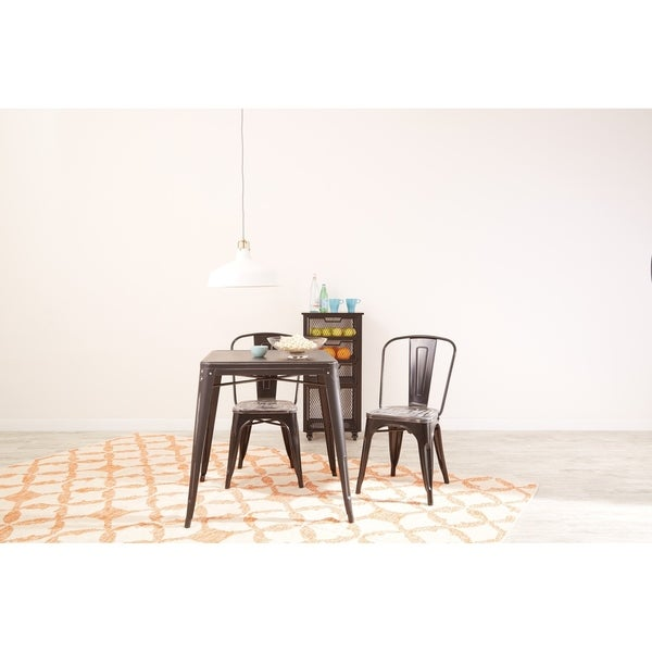 OSP Home Furnishings Bristow Antique Metal Table. Opens flyout.