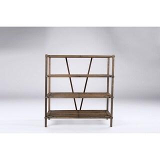 Wooden Organizer 4 Tier Shelf Black