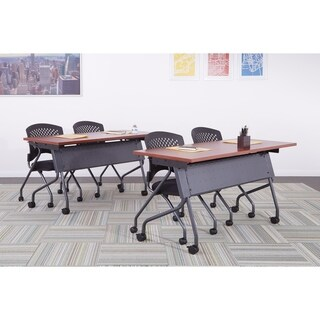 OSP Furniture Flip-Top Training Table 60 x 24 with Titanium Frame