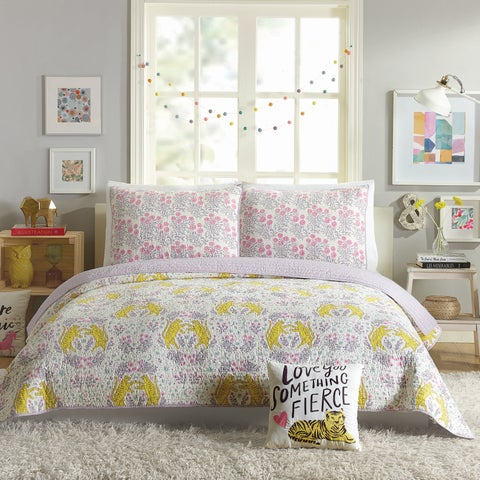 Hello Lucky Tiger Flower Quilt Set By Makers Collective
