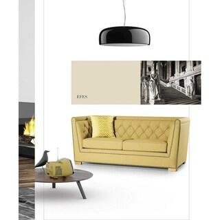 Efes Italian Design Mid Century Modern Premium Quality Yellow Loveseat