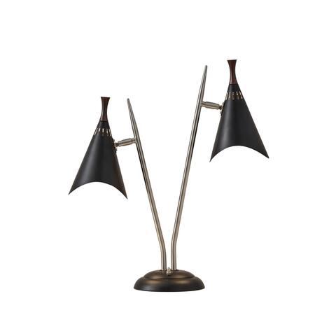Adesso Draper Black Desk Lamp