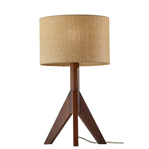 Adesso Ash or Walnut Wood Eden Table Lamp