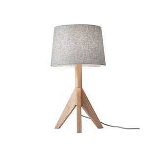 Adesso Natural Ash Wood Eden Table Lamp