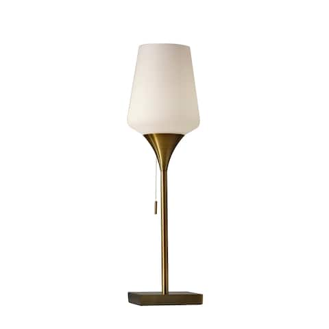Adesso Roxy 25 inch Brushed Steel Table Lamp