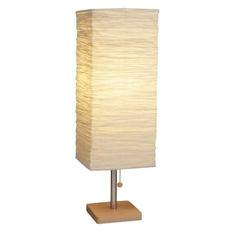 Adesso Dune 25 inch Natural Tall Table Lamp Portable Light