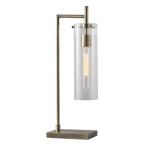 Adesso Dalton Antique Brass Table Lamp