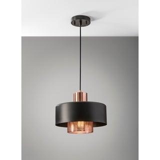 Adesso Bradbury Black And Copper Pendant Light