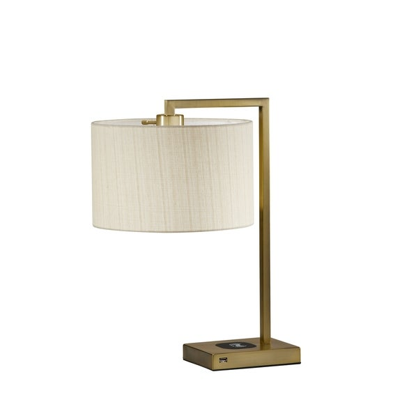 Shop Adesso Austin Wireless Charging Pad Table Lamp On
