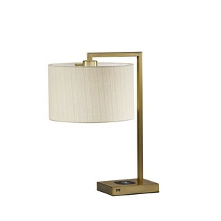 Adesso Austin Wireless Charging Pad Table Lamp
