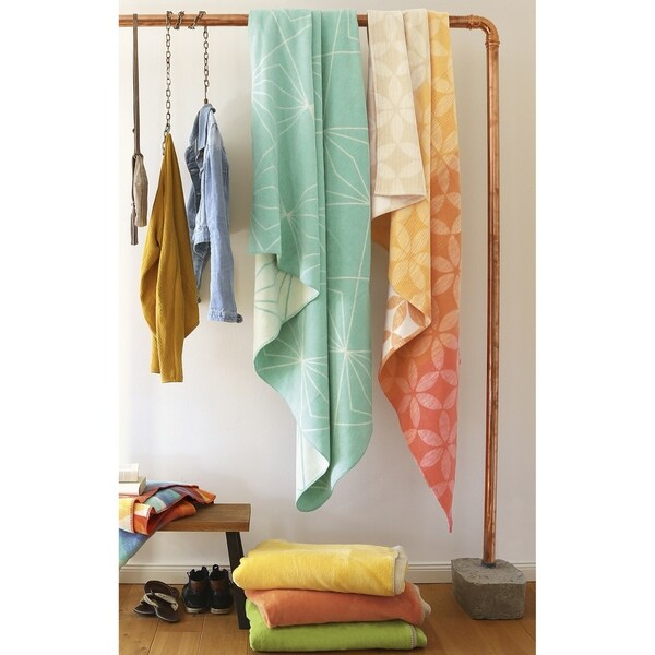 IBENA Throw Blanket Solna Mint