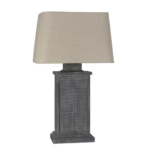 Lamps Per Se 29.5- inch Grey Shutter Indoor / Outdoor Table Lamp - N/A