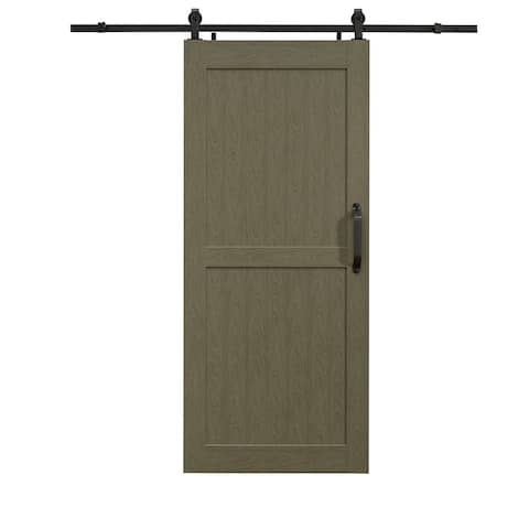 Montana Heather Grey Barn Door Room Divider 42X84