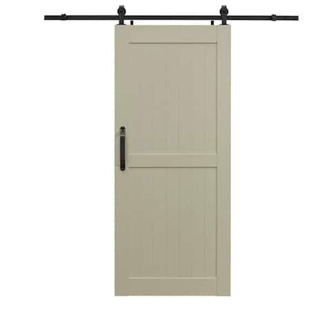 Montana White Ash Barn Door Room Divider 42X84