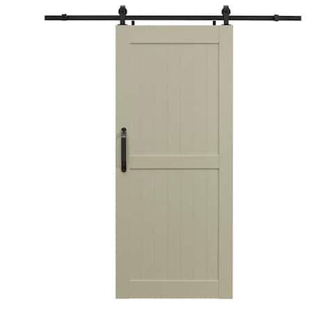 Montana White Ash Barn Door Room Divider 36X84