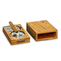 "Cigar Ashtray/Cutter/Punch ""Olive Wood"""