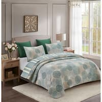 Seraphine Chic Medallion Reversible 3 Piece Quilt Set