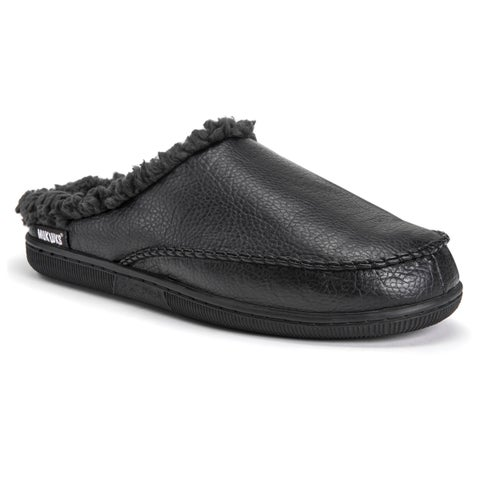 MUK LUKS® Men's Faux Leather Clog Slippers
