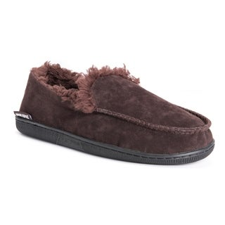 MUK LUKS® Men's Faux Suede Moccasin Slippers