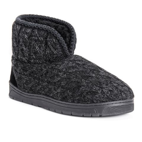 MUK LUKS Mens Mark Bootie Slippers