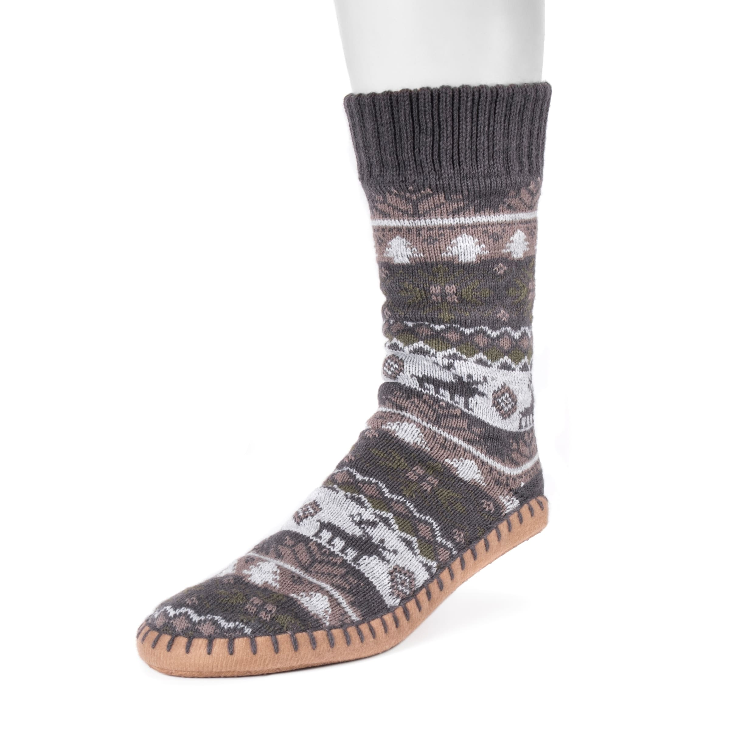 MUK LUKS Mens Slipper Socks sareg.com