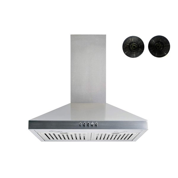 """Winflo 30"""" Convertible Wall Mount Range Hood with Charcoal Filters"""