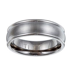 Titanium Men's Brushed Domed Band (7 mm)