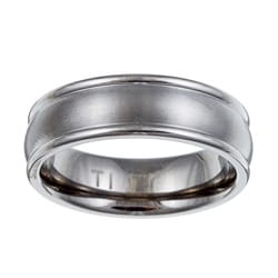 Men's Titanium Brushed Domed Band (7 mm)