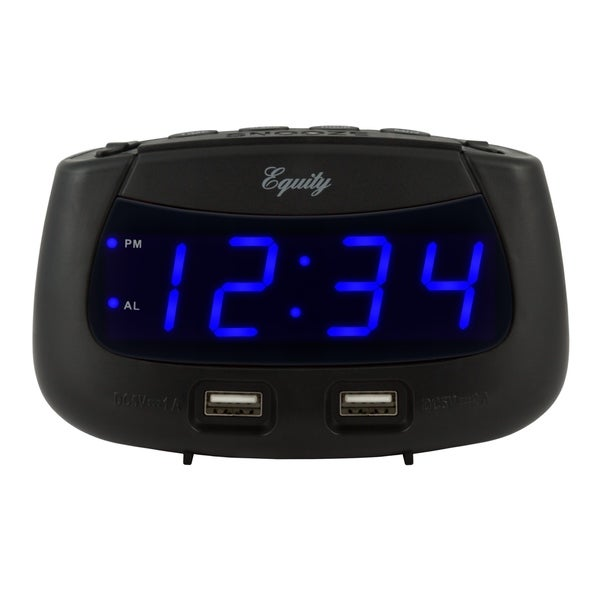 Equity by La Crosse 30417 0.9 Inch LED Dual USB Alarm Clock. Opens flyout.