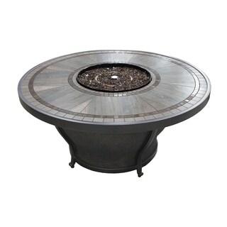 TK Classics Huntington Porcelain Top Aluminum 48-inch Gas Fire Pit Table