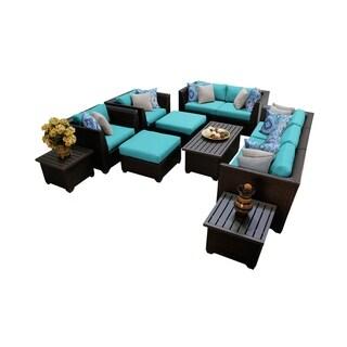 Barbados 12 Piece Outdoor Wicker Patio Furniture Set 12d
