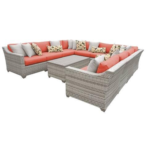 Fairmont 11 Piece Outdoor Wicker Patio Furniture Set 11a
